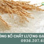 Công bố tiêu chuẩn chất lượng sản phẩm gạođể xuất khẩu ra nước ngoài