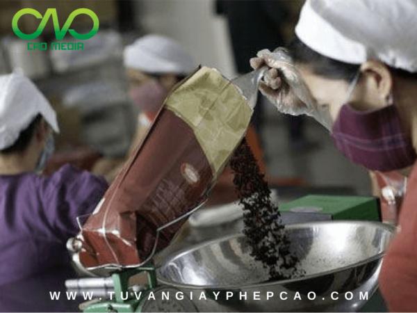 Giấy phép vệ sinh an toàn thực phẩm cho cơ sở chế biến cà phê