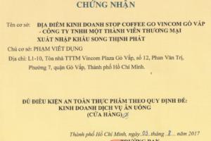 Những giấy tờ khi kinh doanh quán cà phê trong TP.HCM