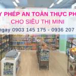 Giấy chứng nhận đủ điều kiện an toàn thực phẩm cho siêu thị mini