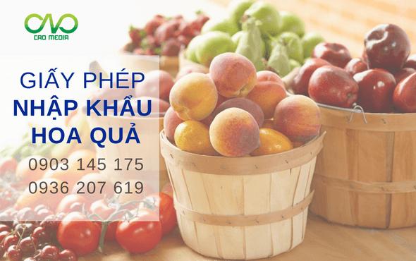 Giấy phép nhập khẩu hoa quả vào Việt Nam như thế nào