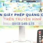 Giấy phép quảng cáo thực phẩm chức năng trên truyền hình