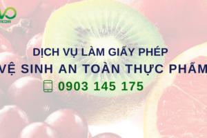 Dịch vụ làm giấy phép vệ sinh an toàn thực phẩm nhanh nhất tại TPHCM