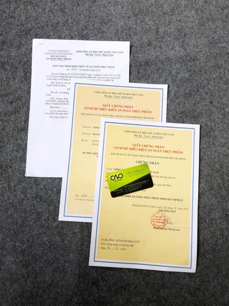 Quy trình xin giấy phép an toàn thực phẩm tại tphcm