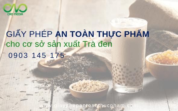 Vệ sinh an toàn thực phẩm cho cơ sở sản xuất trà đen tại tp.hcm