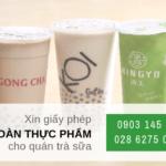 Điều kiện xin giấy phép an toàn thực phẩm cho quán trà sữa