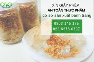 Hướng dẫn xin giấy phép vệ sinh an toàn thực phẩm cơ sở bánh tráng tỏi