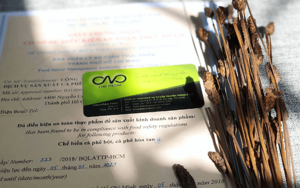 4 loại giấy phép cơ sở sản xuất rang xay cà phê bắt buộc phải có