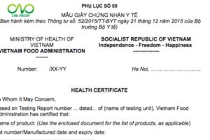 Thủ tục xin cấp giấy chứng nhận y tế (Health Certificate – HC)