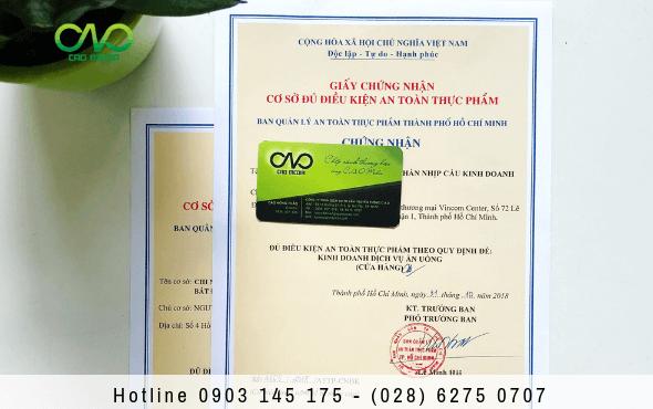 4 bước xin giấy chứng nhận an toàn thực phẩm cho quán ăn quận gò vấp