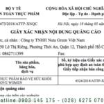 Dịch vụ xin giấy phép quảng cáo thực phẩm tại TP.Hồ Chí Minh