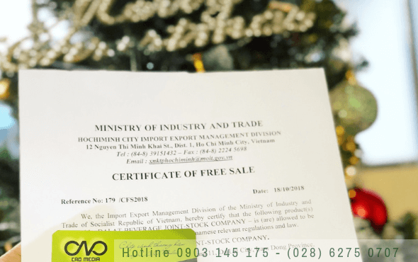 Hướng dẫn đăng ký giấy chứng nhận lưu hành tự do