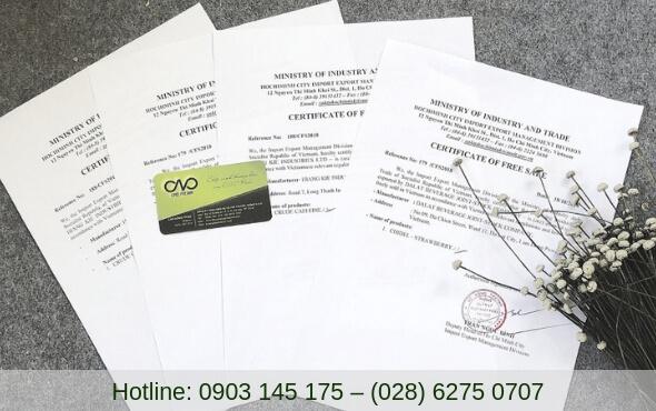 Xin giấy phép lưu hành sản phẩm tự do ở đâu, thời gian bao lâu?