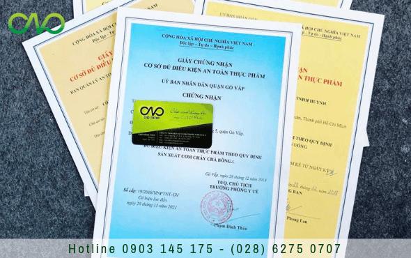 Thủ tục cấp giấy chứng nhận an toàn thực phẩm cho cơ sở sản xuất tương ớt