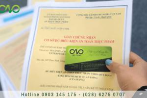 Xin giấy chứng nhận an toàn thực phẩm cơ sở sản xuất bánh pizza