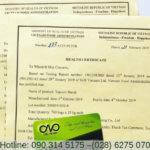 Giấy chứng nhận health certificate là gì, xin ở đâu?