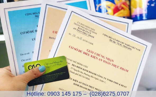 Cấp giấy chứng nhận vệ sinh an toàn thực phẩm hộ kinh doanh