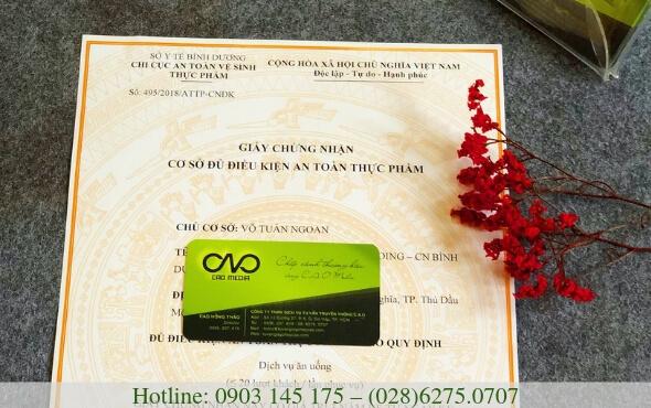Dịch vụ làm giấy phép an toàn thực phẩm tại đồng nai