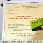 Làm giấy phép an toàn thực phẩm theo luật ATTP số 55/2010/QH12