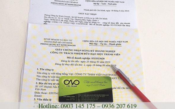 Thủ tục cấp giấy chứng nhận đăng ký doanh nghiệp mới nhất 2019