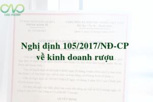 Nghị định 105/2017/NĐ-CP về kinh doanh rượu