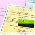 Dịch vụ xin cấp lại giấy phép an toàn thực phẩm tại tphcm