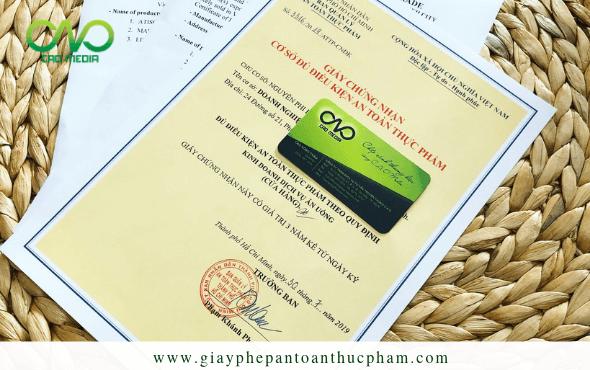 Đăng ký giấy phép an toàn thực phẩm trong khu du lịch tại sài gòn