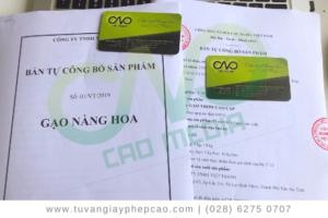 Mẫu hồ sơ tự công bố gạo theo nghị định 15/2018/NĐ-CP