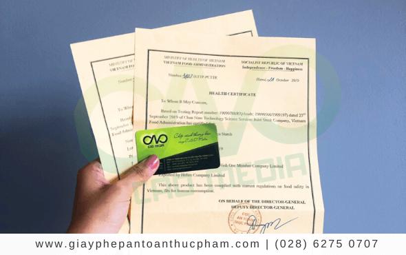 Dịch vụ xin giấy chứng nhận y tế (HC) cho hoa quả sấy khô