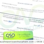 Đăng ký giấy chứng nhận health certificate cho cà phê