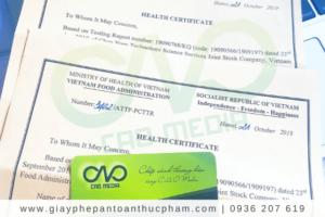 Đăng ký giấy chứng nhận y tế HC cho hạt điều