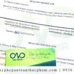 Dịch vụ làm giấy chứng nhận health certificate tại Bình Dương