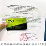 Thủ tục xin giấy chứng nhận lưu hành tự do mới nhất 2020