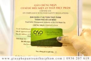 Dịch vụ làm giấy phép an toàn thực phẩm cơ sở sản xuất quận Bình Thạnh