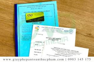 Hướng dẫn công bố chất lượng việt quất sấy khô