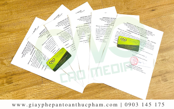 Mẫu giấy chứng nhận lưu hành sản phẩm tại Việt Nam