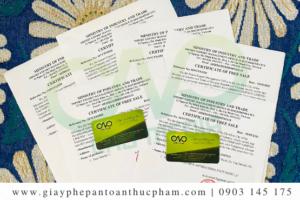 Quy định và hồ sơ xin giấy chứng nhận lưu hành tự do