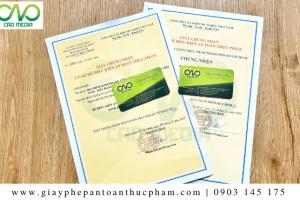 Dịch vụ đăng ký giấy phép an toàn thực phẩm nhà hàng quận Tân Bình