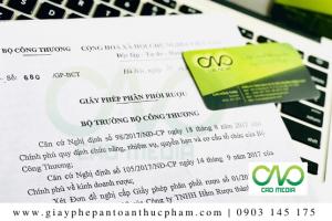 Giấy phép phân phối rượu tại Hồ Chí Minh đăng ký như thế nào?