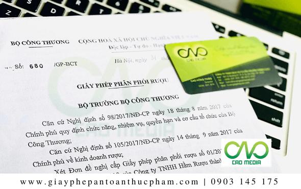 Giấy phép phân phối rượu tại Hồ Chí Minh