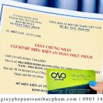 Dịch vụ làm giấy phép an toàn thực phẩm tại Bình Chánh giá tốt