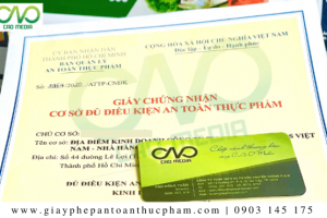 Dịch vụ làmgiấy phép an toàn thực phẩm tại quận Phú Nhuận