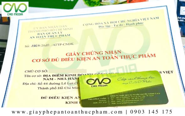 Giấy phép an toàn thực phẩm tại quận Phú Nhuận
