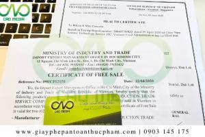 Tư vấn giấy phép lưu hành tự do tại Bộ Công Thương