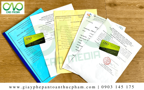 Các giấy phép sản xuất kinh doanh khẩu trang
