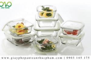 Công bố chất lượng vật dụng chứa đựng thực phẩm bằng thuỷ tinh
