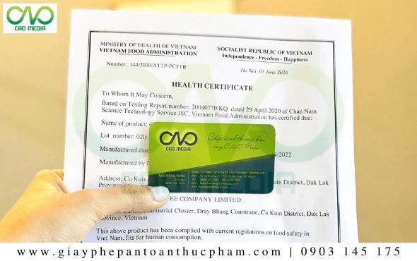 Dịch vụ làm Health Certificate