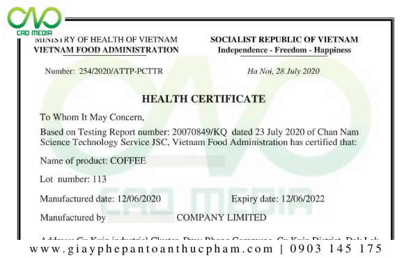 Giấy chứng nhận y tế tại Lâm Đồng