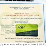 Quy trình làm giấy phép ATTP cơ sở sản xuất bánh trung thu