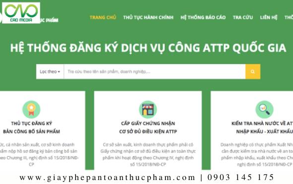 Trang mẫu website đăng ký nộp hồ sơHealth Certificate trực tuyến